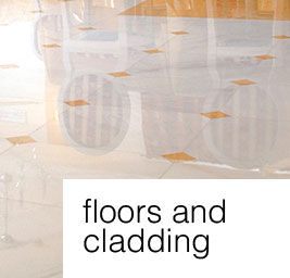 floors and cladding